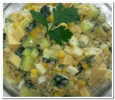 салат с тунцом яйцом и луком рецепт
