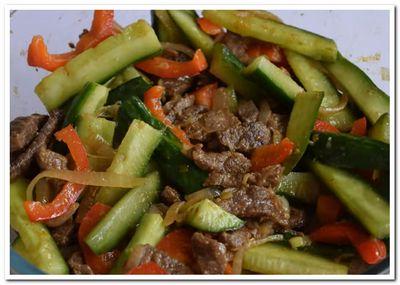 мясо с огурцами по корейски рецепт