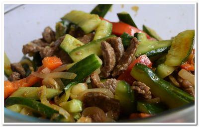 как приготовить огурцы с мясом по корейски
