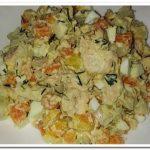 Очень вкусный салат с отварной рыбой