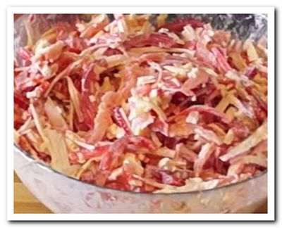 Красное море рецепт салата