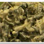 Диетический салат со стручковой фасолью и яйцом