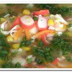 Вы точно не пробовали такой суп из крабовых палочек