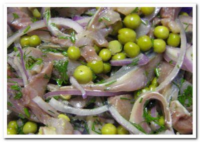 как приготовить селедку с зеленым горошком