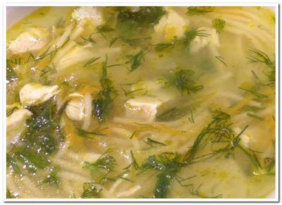 рецепт супа лапша с курицей