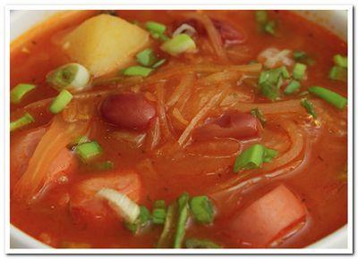 капустняк - рецепт супа с квашеной капустой