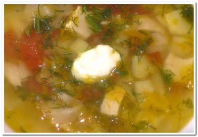 рецепт овощного супа с курицей