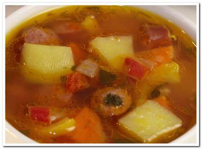 как приготовить суп с охотничьими колбасками