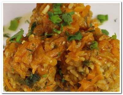 рецепт ежиков из фарша и  риса