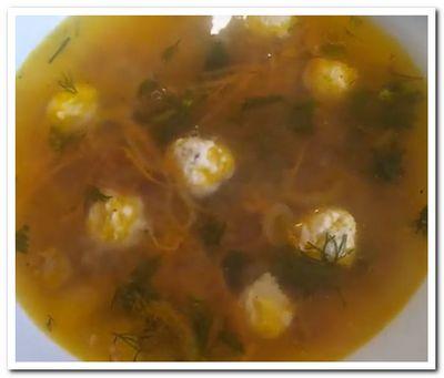 диетический гречневый суп с фрикадельками