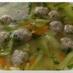 Очень вкусный кабачковый суп с фрикадельками