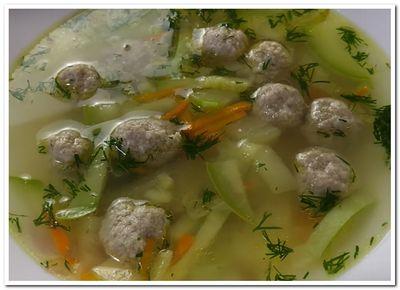 рецепт супа с кабачком и фрикадельками