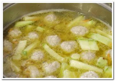 кабачковый суп с фрикадельками рецепт