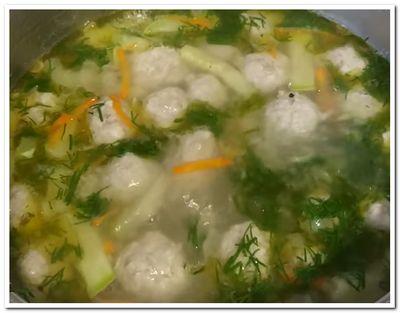 суп с кабачками и фрикадельками рецепт приготовления