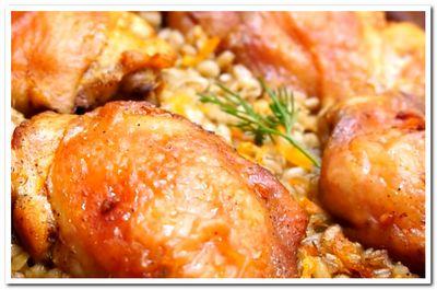 рецепт перловой каши с курицей в духовке