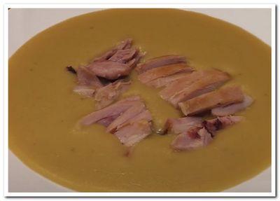 гороховый суп-пюре с копченостями рецепт