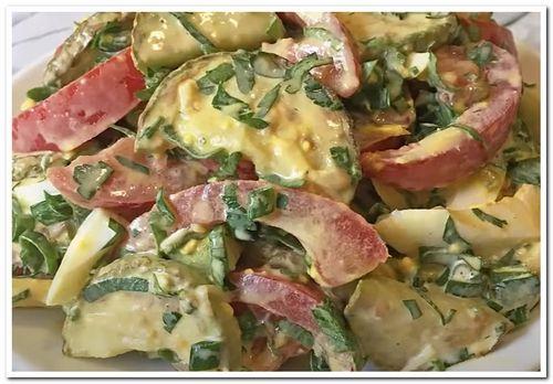 рецепт салата из жареных кабачков