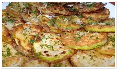 рецепт кабачков жареных кружочками на сковороде