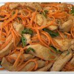 Вкусный рецепт салата курица по-корейски с морковью