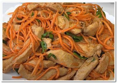 курица по корейски салат